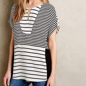 Anthropology one September women tops tunic stripe